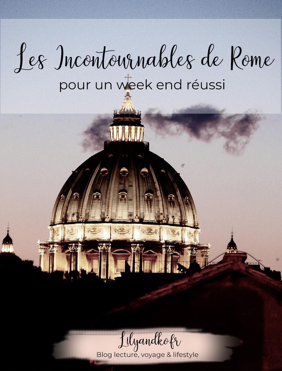 idée incontournables de rome