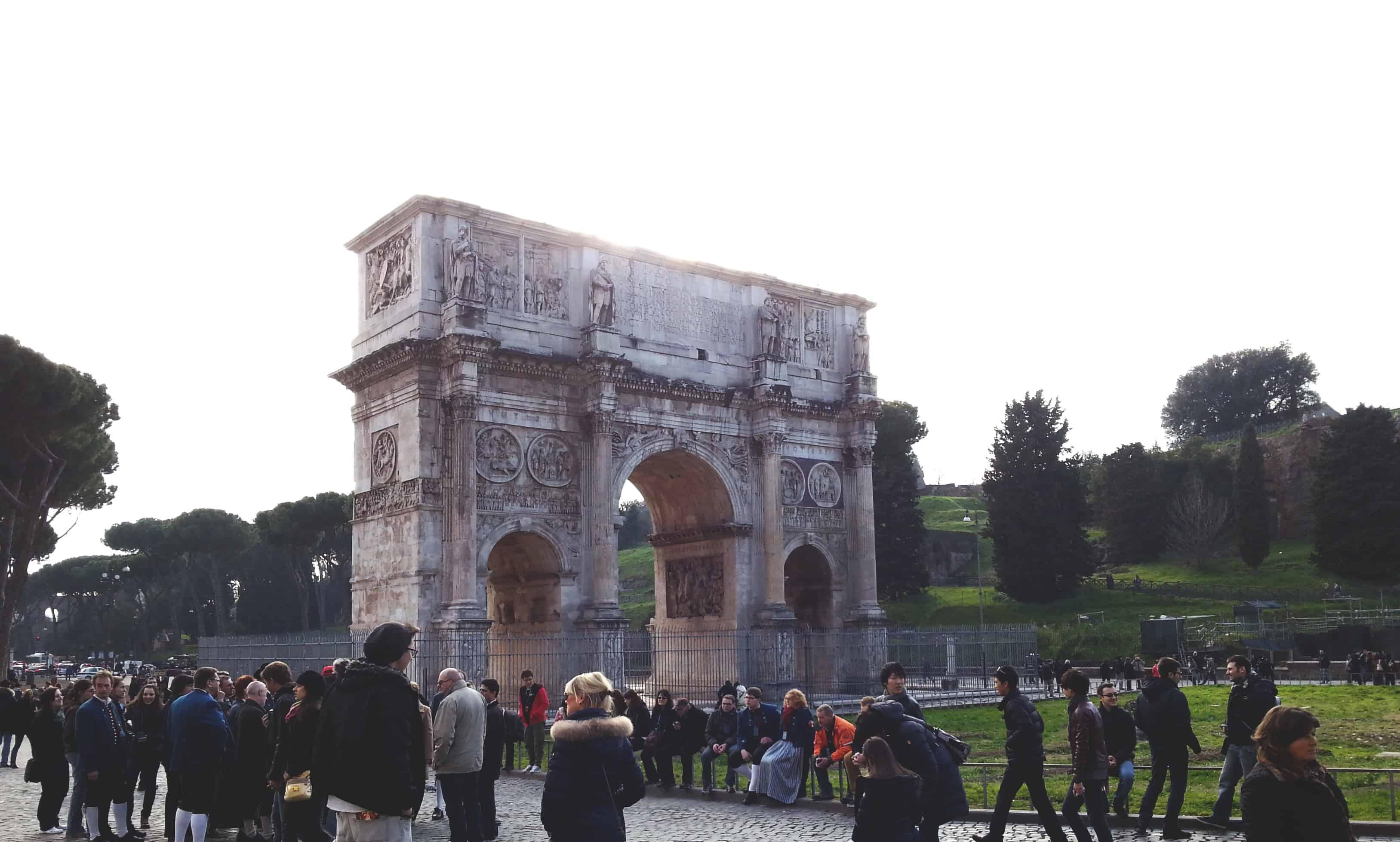 Arc de constantin voyage rome