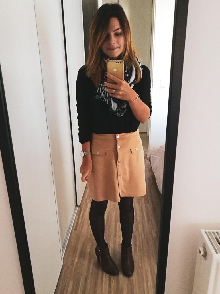 Lily and ko photo mode jupe suédine avec bottine