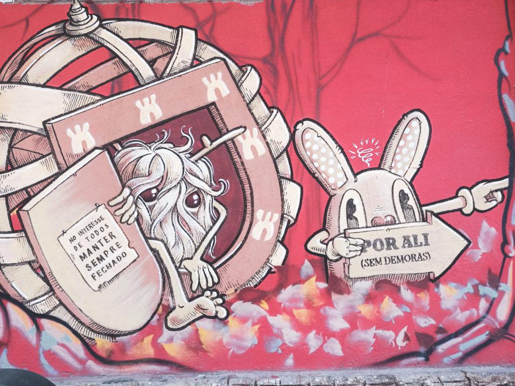 Street Art dans le quartier LX Factory belem lisbonne
