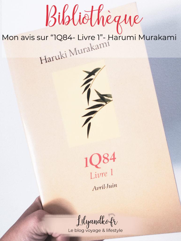photo avis et résumé Pinterest haruki murakami livre 1q84
