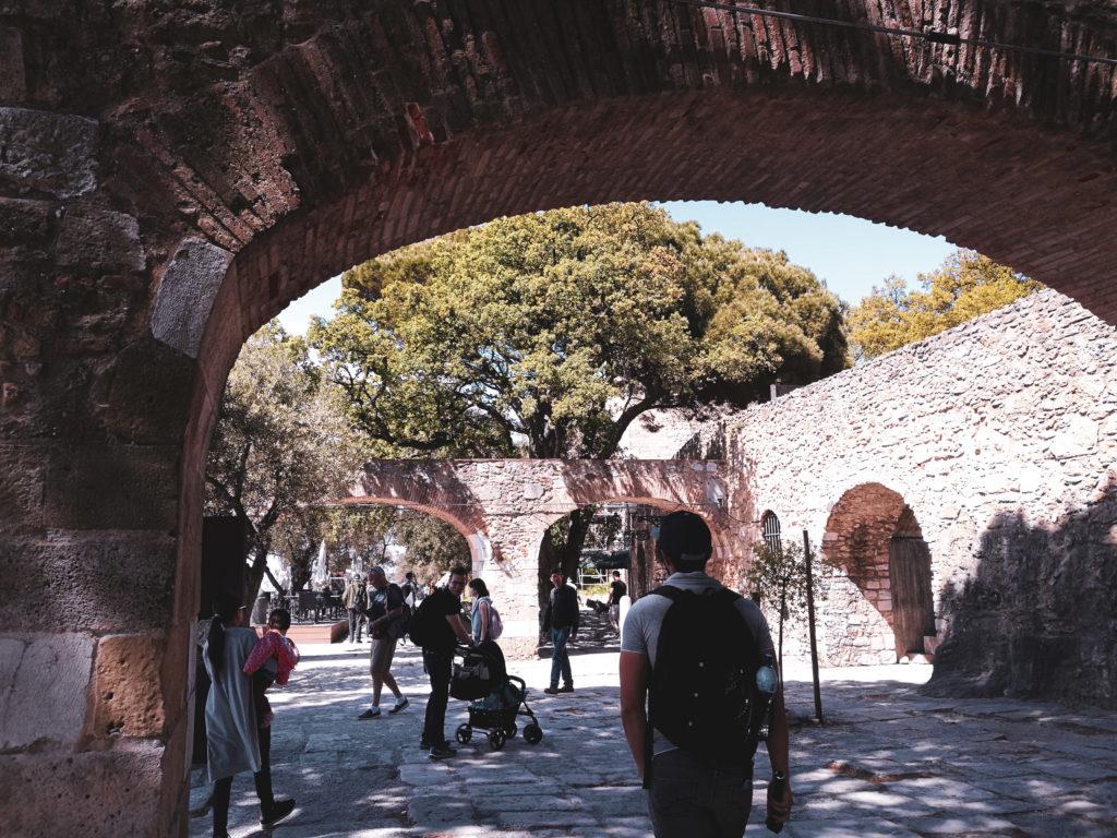 castelo sao jorge portugal centre ville lisbonne
