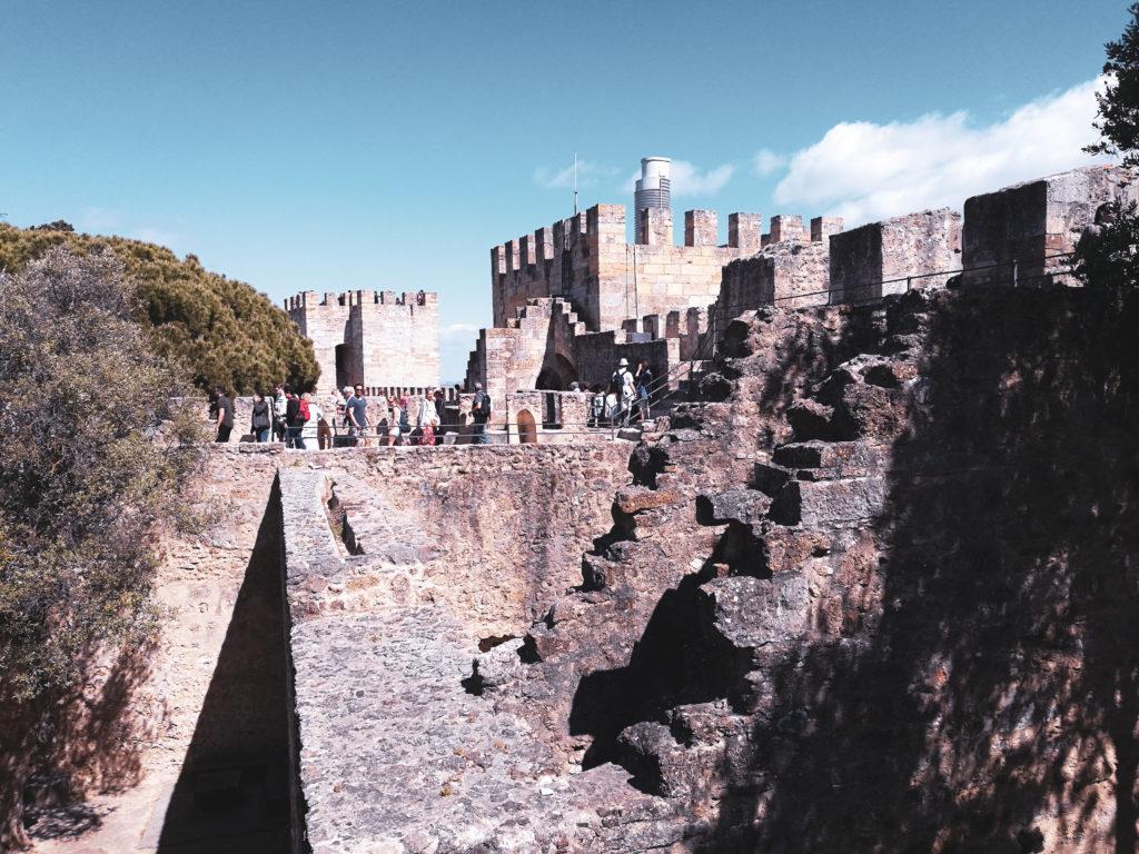 rempart castelo sao jorge portugal centre ville lisbonne