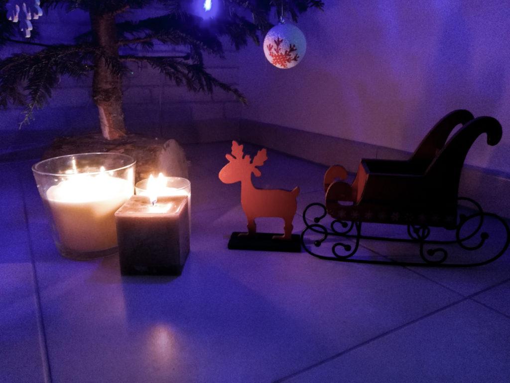 Noel blog décoration traineau rennes