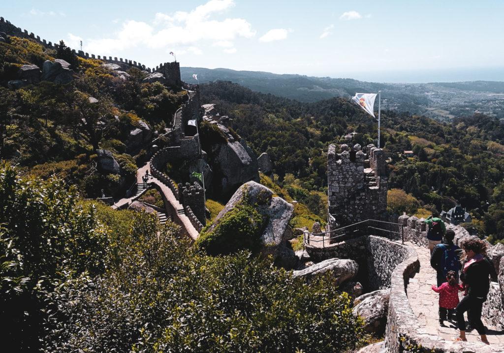 Remparts Castelo dos mouros sintra lisbonne