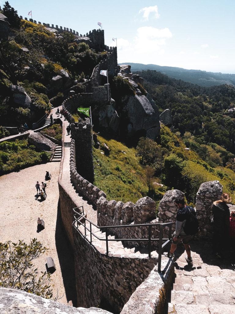 Muraille Castelo dos mouros sintra lisbonne