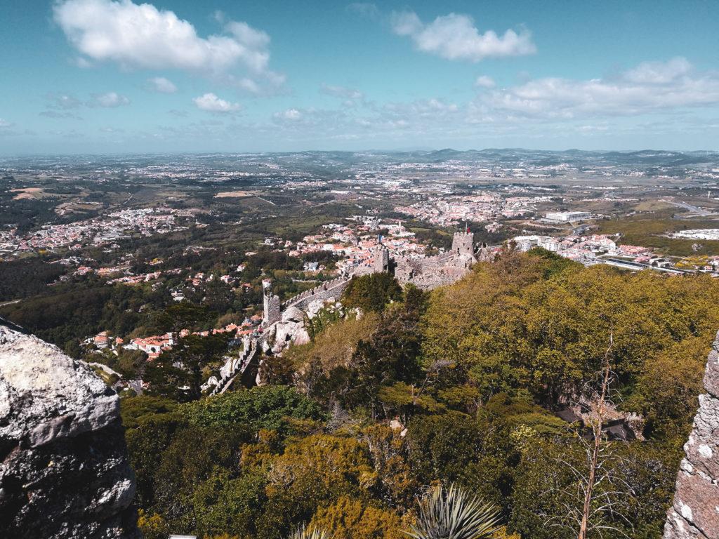 Vue depuis le Castelo dos mouros sintra lisbonne