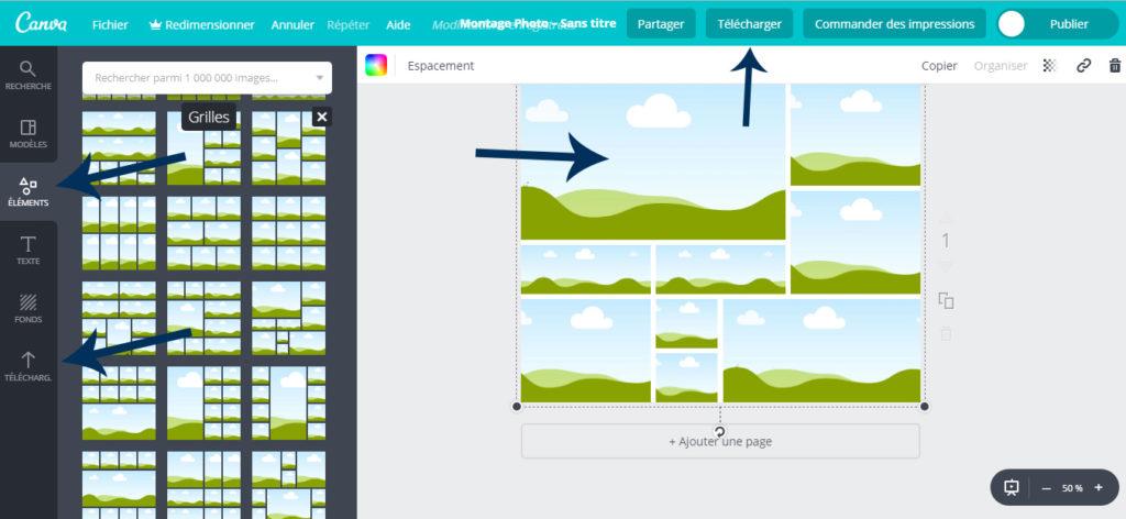guide utilisation tableau de visualisation-canva