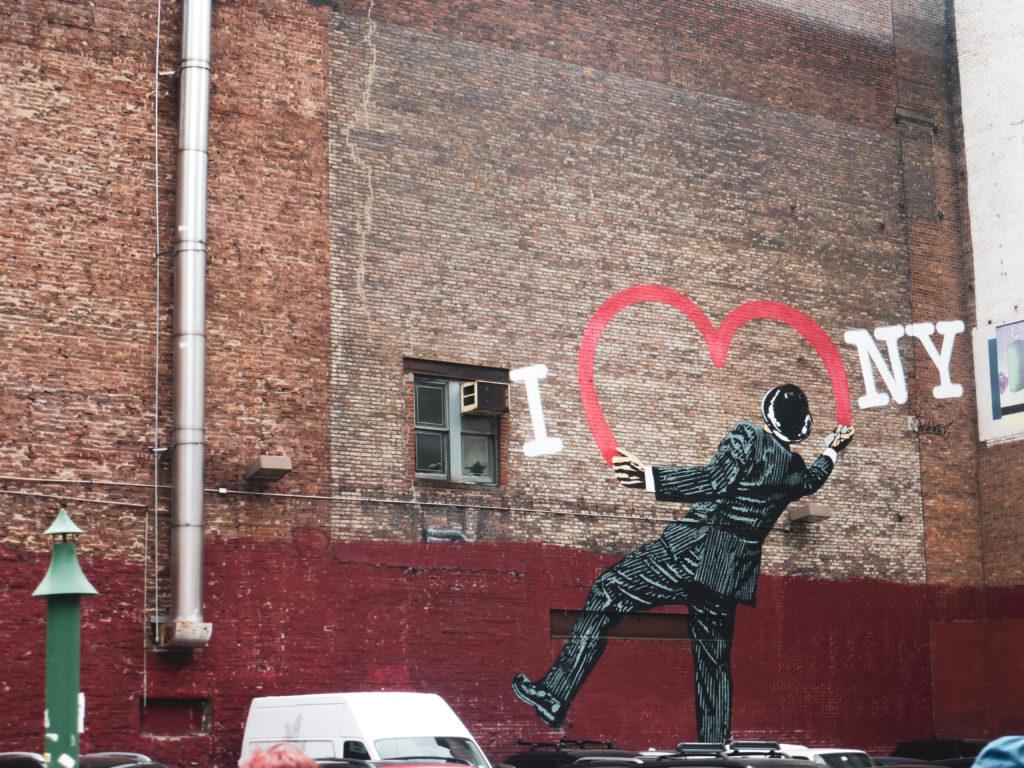 street art i love ny quartier chelsea
