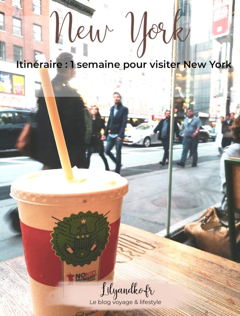 Pinterest itinéraire 1 semaine à new york