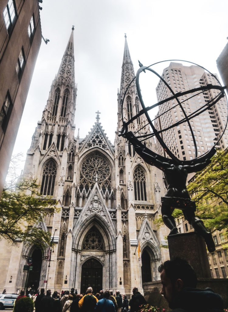 Saint patrick cathedral facade.