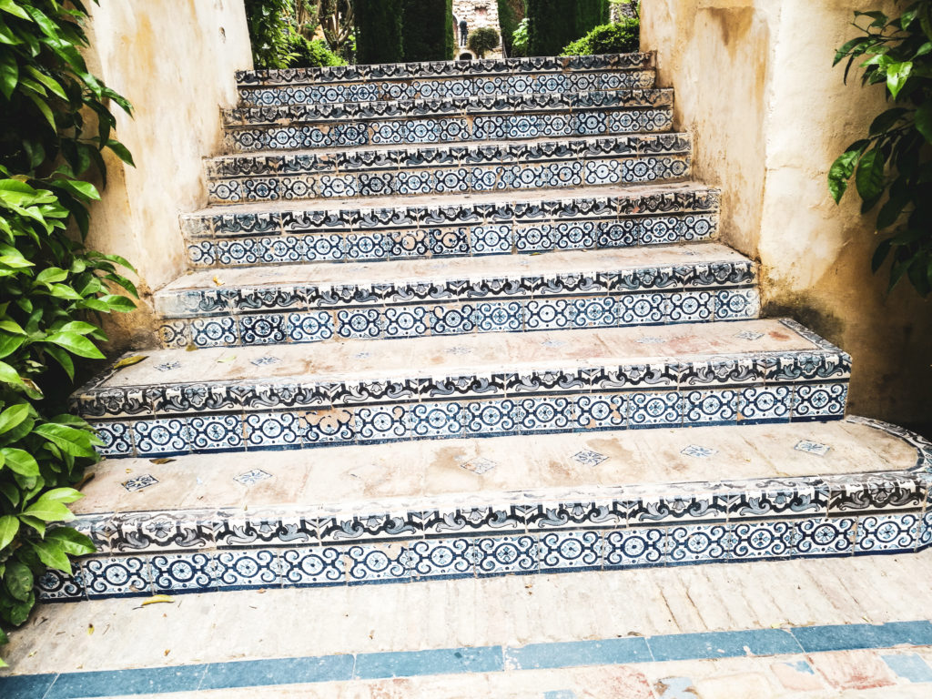 Seville palais alcazar escalier