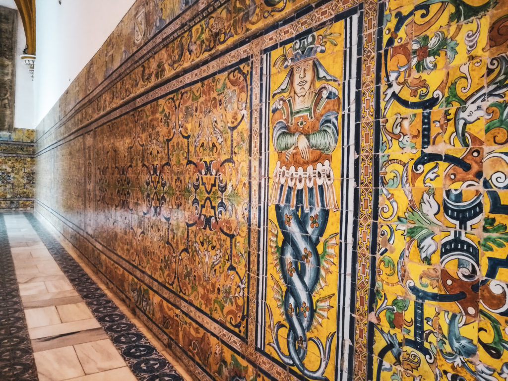 Mosaique palais alcazar seville