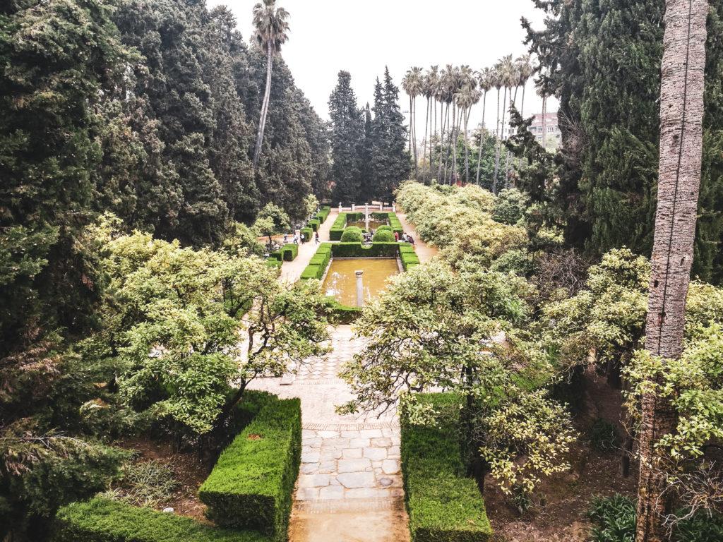 Seville palais alcazar jardins