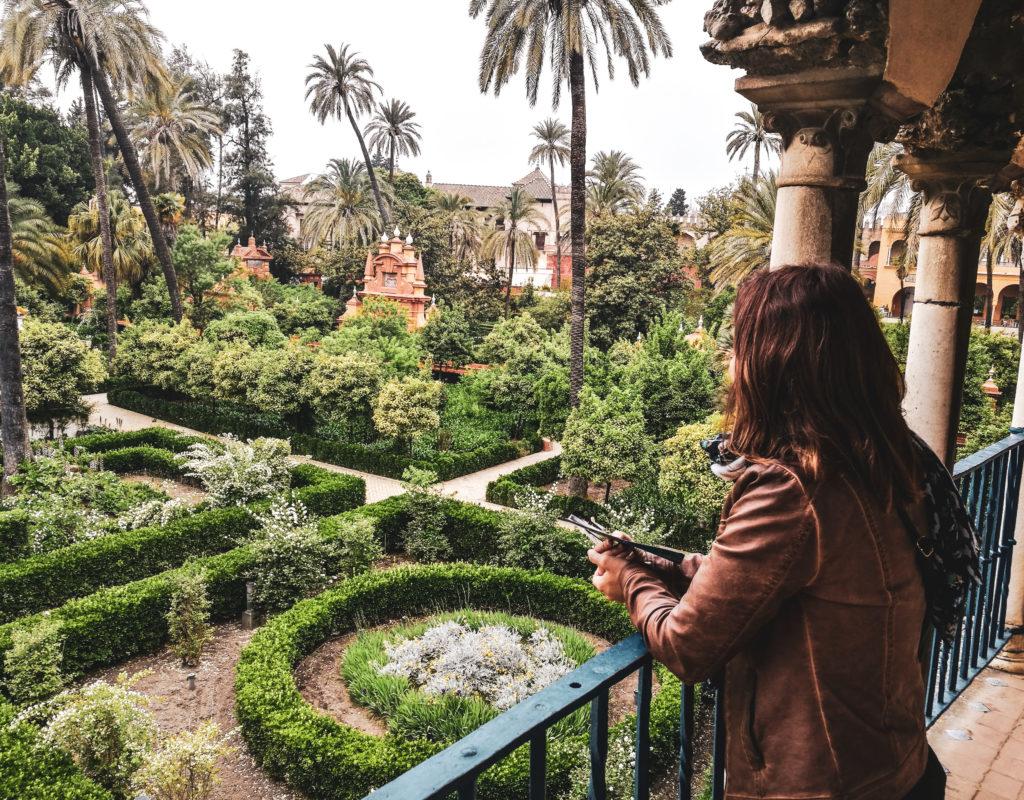 Seville palais alcazar exterieur jardin