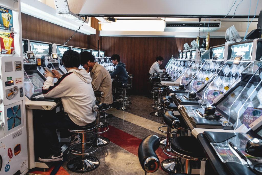 Quartier Akihabara à Tokyo machines
