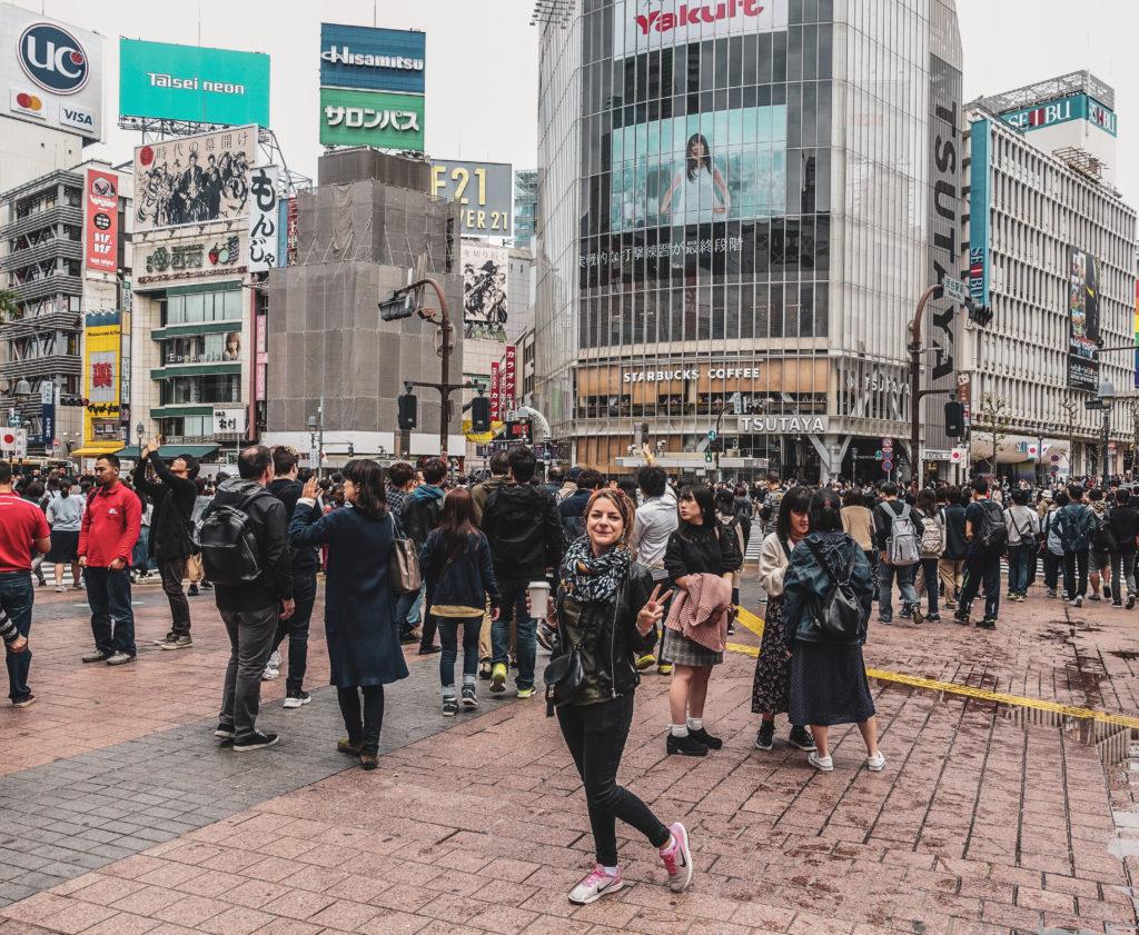 Quartier Shibuya à Tokyo grand carrefour