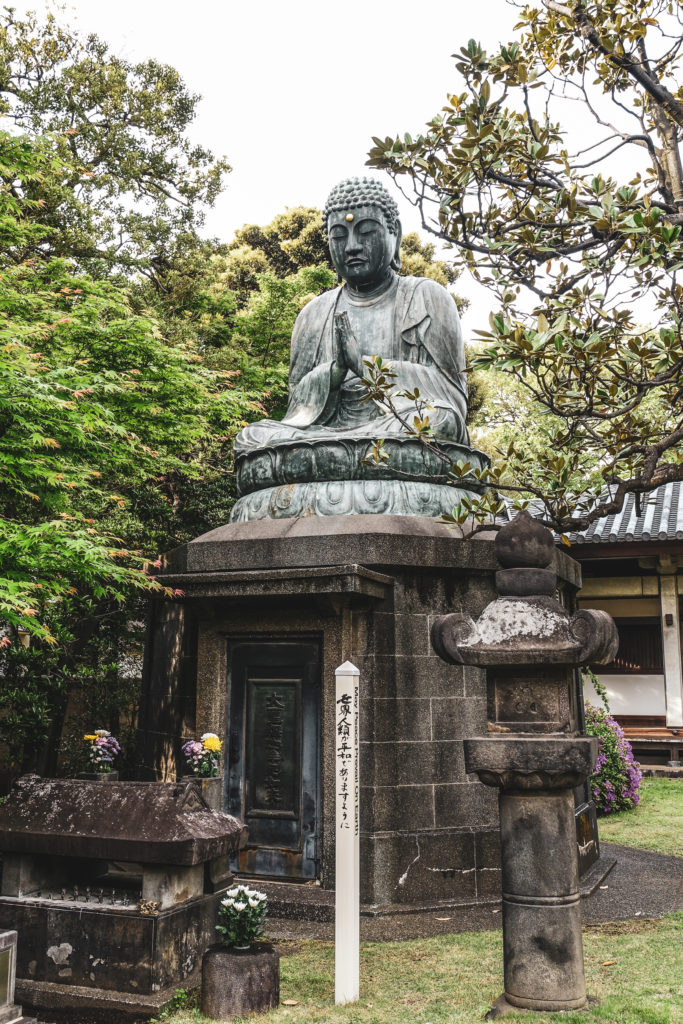 Quartier Yanaka à Tokyo bouddha