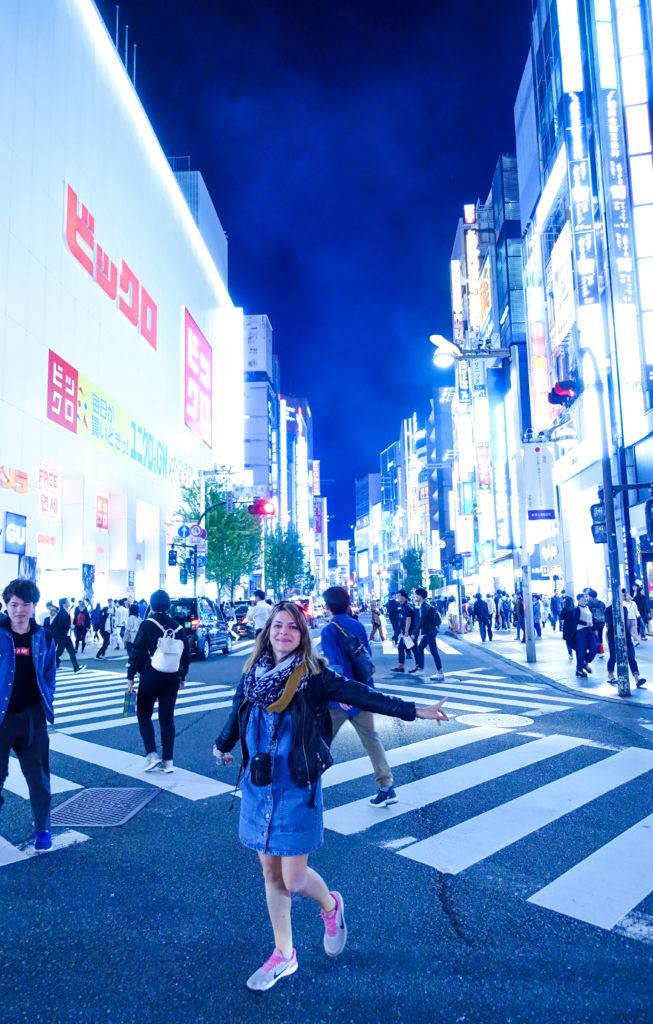 Quartier Harajuku à Tokyo -nuit