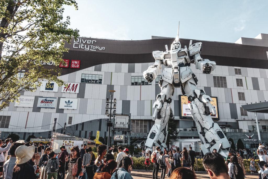 Ile odaiba à Tokyo gundam
