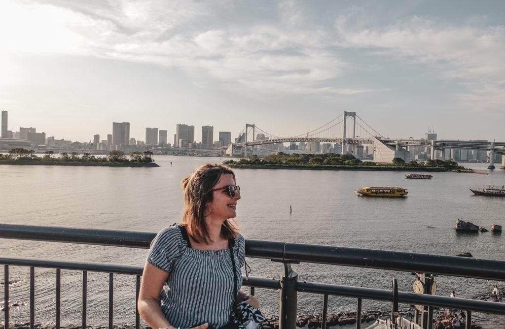 Ile odaiba à Tokyo vue