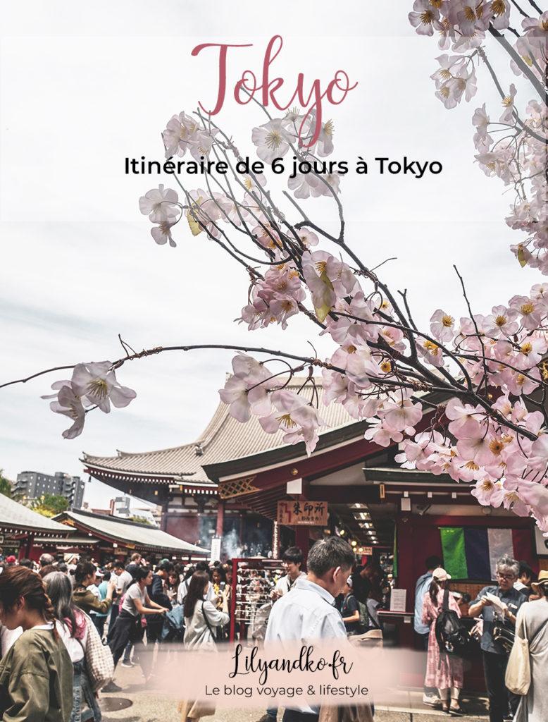 Pinterest bannière itinéraire 6 jours à Tokyo