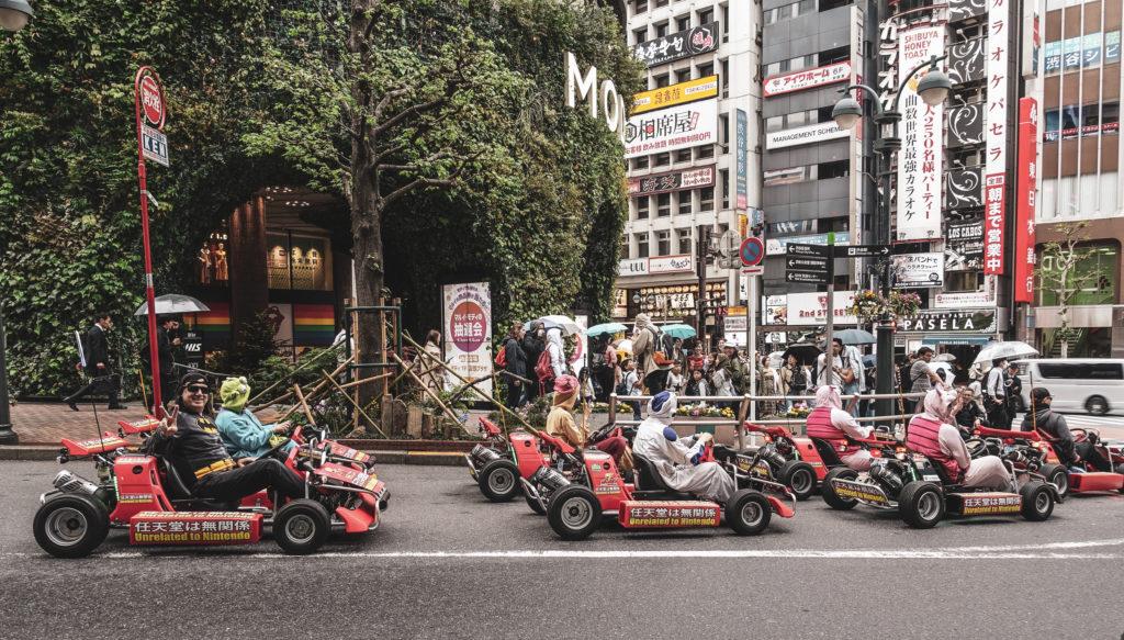 Quartier Shibuya à Tokyo- Kart
