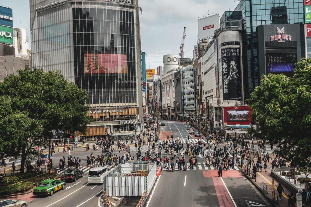 Quartier Shibuya à Tokyo- Carrefour