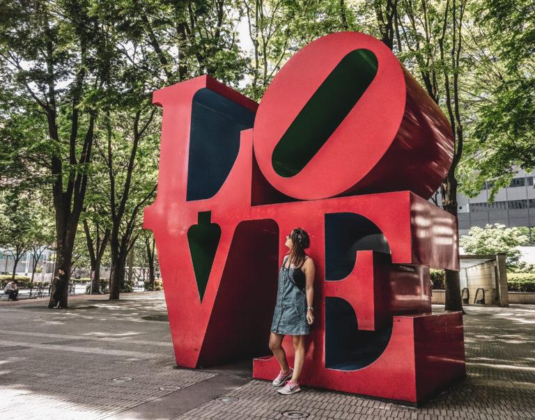 Quartier Shinjuku à Tokyo - love