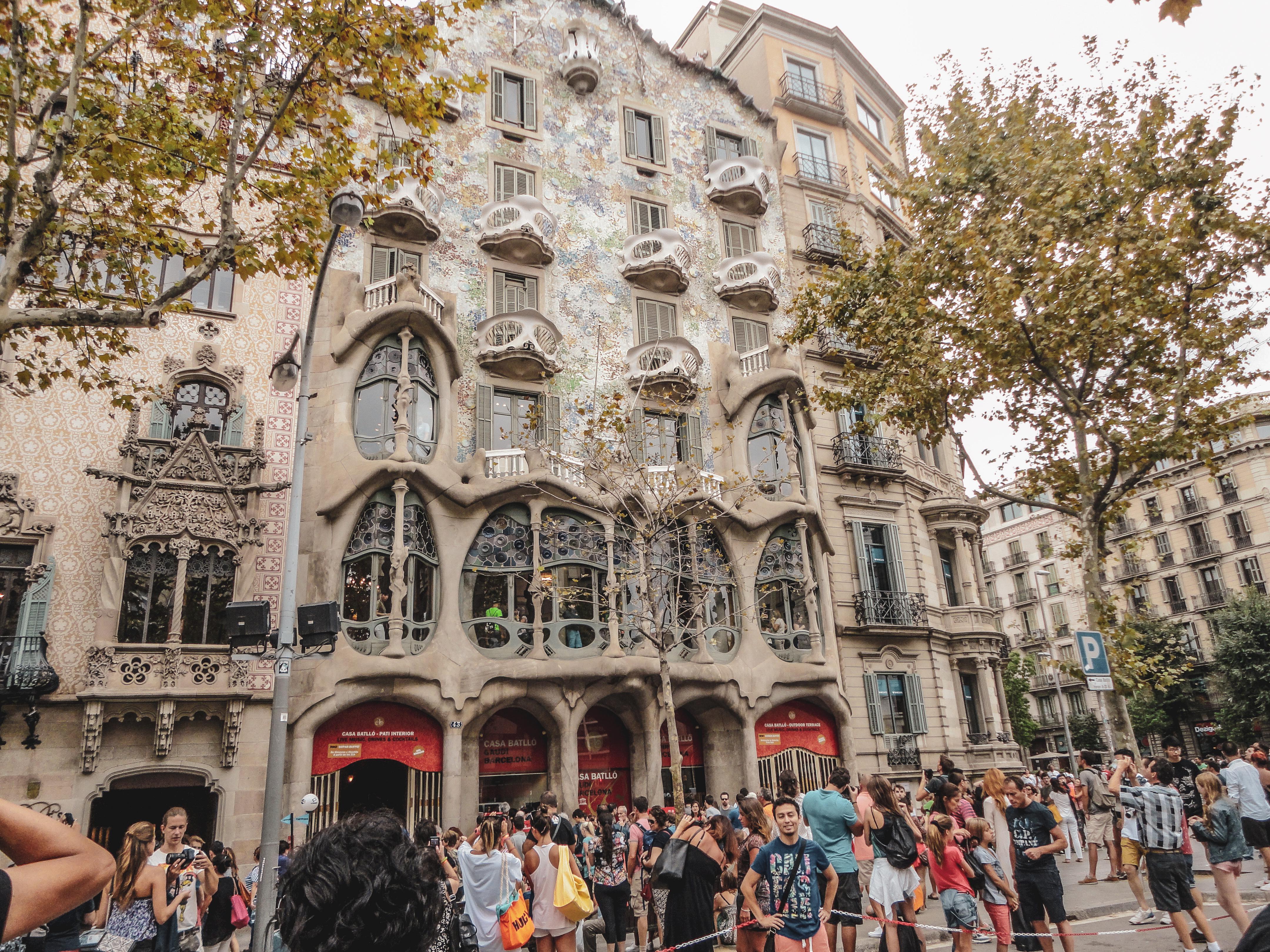 Oeuvre gaudi à Barcelone
