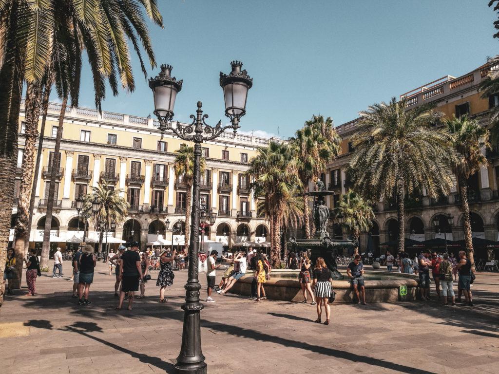 Barcelone quartier gothique coup de coeur - plaza real