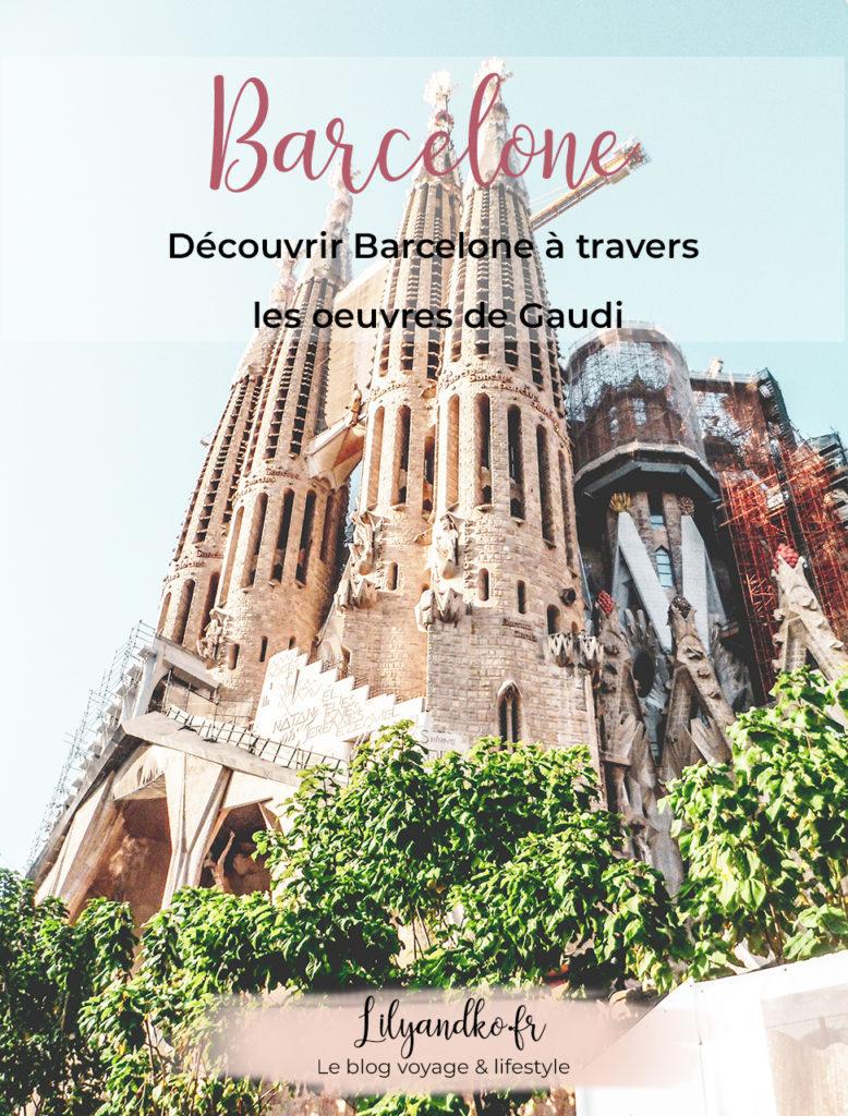 Pinterest bannière oeuvre de gaudi à barcelone