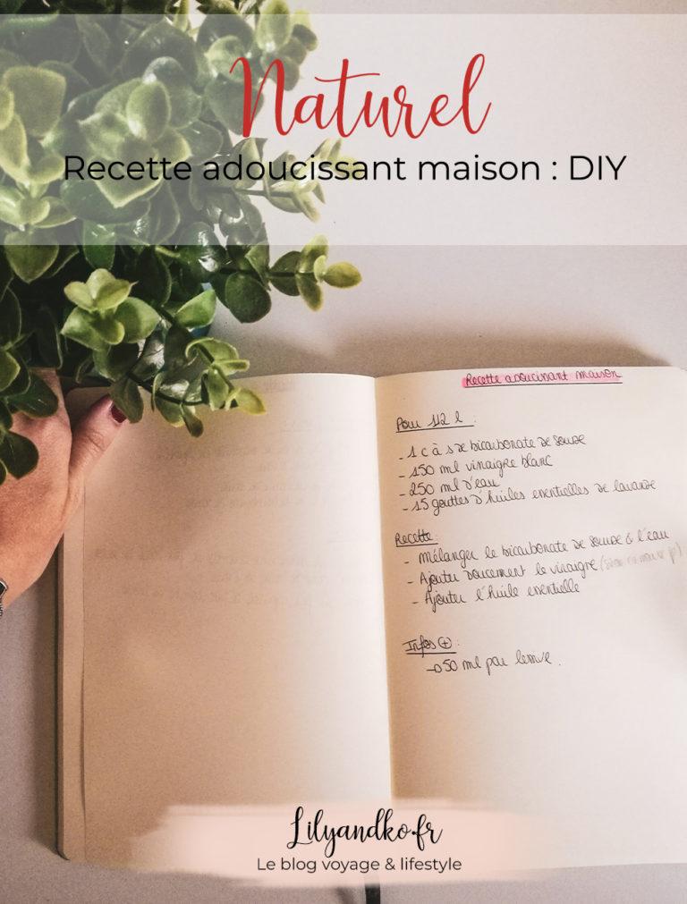Pinterest recette adoucissant maison