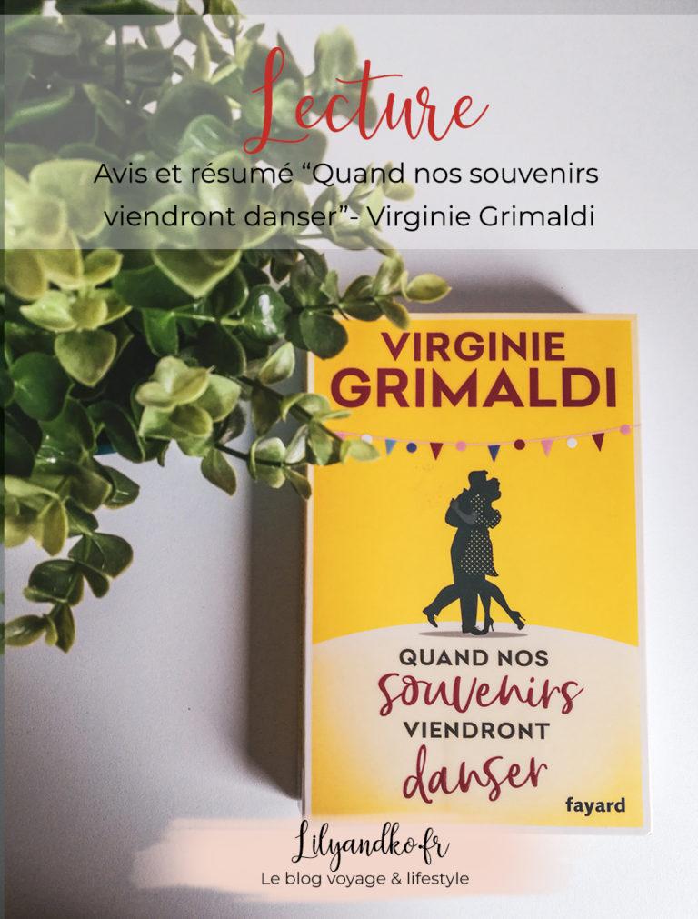 Pinterest banniere Quand nos souvenirs viendront danser Virginie Grimaldi