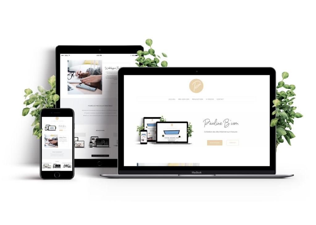 Paulinebcom webdesigner freelance bordeaux