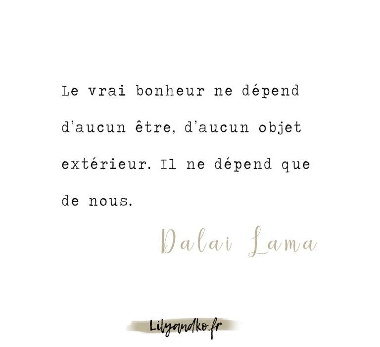 Meilleure citation de développement personnel dalai lama