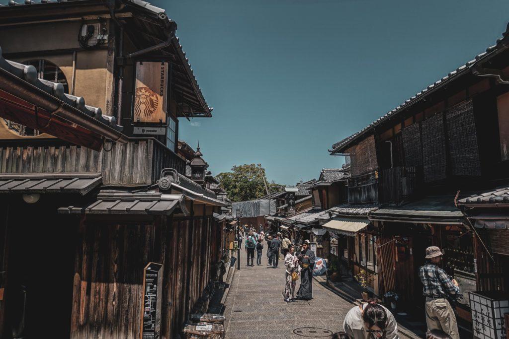 Quartier à Gion découvrir Kyoto rue